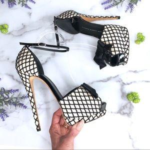Giuseppe Zanotti Alicia Peep Toe Heels, Size 39